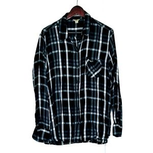 Woolrich Black & White Plaid Button Down